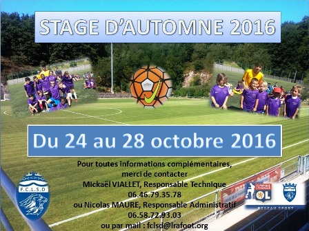 Inscription Stage Automne 2017