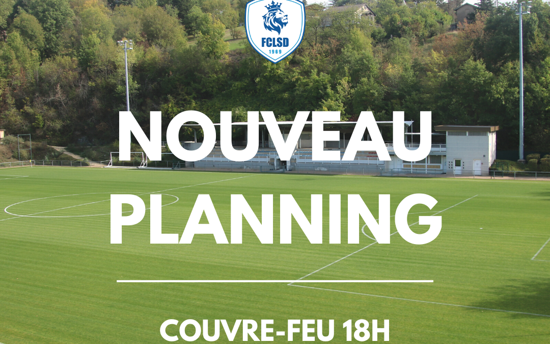 Planning couvre-feu 18h!